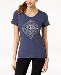 Columbia Summer Festival Diamond Graphic Top Nocturnal Heather