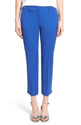 Women's Halogen Slim Stretch Cotton Blend Ankle Pants Blue Mazarine
