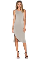 Heather Shirred Swoop Dress Gray