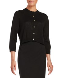 Karl Lagerfeld Cropped Button Front Cardigan Noir