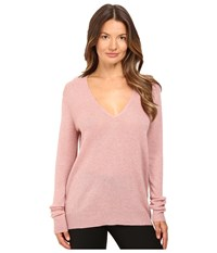 Theory Adrianna Feather Cashmere Sweater Dusty Willow Women's Sweater Pink