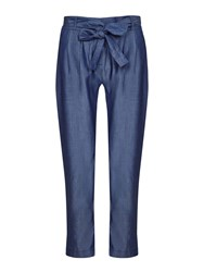 Yumi Chambray Trousers Blue