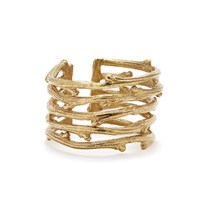 Chupi Love Is All You Need Twig Ring In Gold