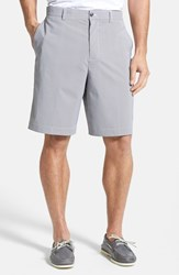 Men's Big And Tall Cutter And Buck 'Barclay' Drytec Flat Front Golf Shorts Black