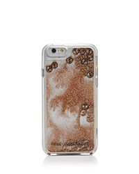Rebecca Minkoff Liquid Glitter Peace Sign Iphone 6 6S Case Rose Gold