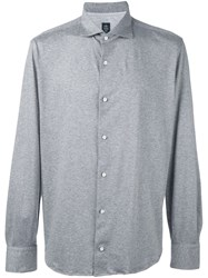 Eleventy Classic Button Down Shirt Grey