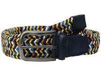 Torino Leather Co. 35Mm Italian Woven Elastic Navy Multi Men's Belts