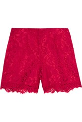 Dolce And Gabbana Guipure Lace Shorts Red