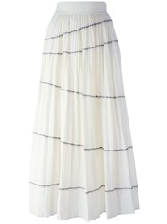 Dkny Exposed Seam Maxi Skirt Nude Neutrals