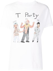 Unfortunate Portrait 'T Party' T Shirt White