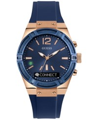 Guess Women's Analog Digital Connect Blue Silicone Strap Smartwatch 41Mm C0002m1