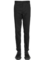 Lanvin 16Cm Herringbone Cotton Biker Pants