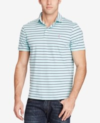 Polo Ralph Lauren Men's Big And Tall Classic Fit Soft Touch Striped Light Blue Navy