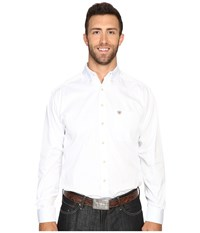 Ariat Big Tall Solid Twill Shirt White Men's Clothing
