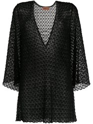 Missoni Mare Lace Up Embroidered Dress Black