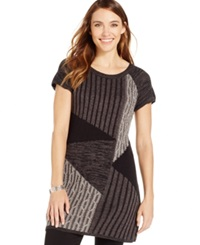 Style And Co. Patchwork Cable Knit Tunic Only At Macy's