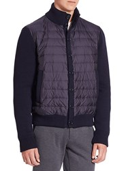 Saks Fifth Avenue Collection Long Sleeves Ribbed Jacket Navy