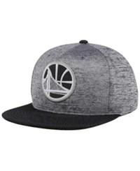 Mitchell And Ness Golden State Warriors Space Knit Snapback Cap Gray Heather