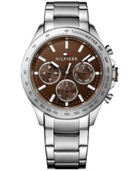 Tommy Hilfiger Men's Sophisticated Sport Stainless Steel Bracelet Watch 44Mm 1791229 Silver