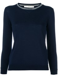 Golden Goose Deluxe Brand Sporty Round Neck Sweater Blue