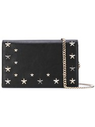 Jimmy Choo Star Studded Crossbody Bag Women Calf Leather Metal One Size Black