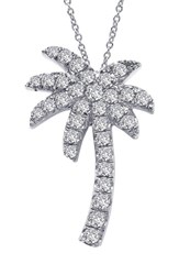 Lafonn Women's Palm Tree Simulated Diamond Pendant Necklace