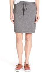Women's Caslon French Terry Skirt Grey Dark Heather