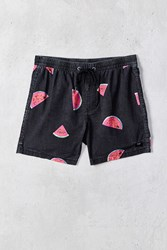 Globe Slice Pool Short Washed Black