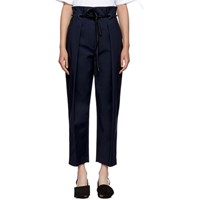 3.1 Phillip Lim Navy Origami Pleated Trousers