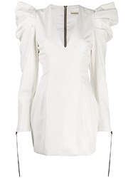 Nineminutes Puff Sleeve Mini Dress White