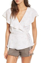 June And Hudson Women's Cape Sleeve Wrap Top