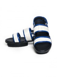 Jamie Wei Huang Nibbana Leather Sandal White Blue