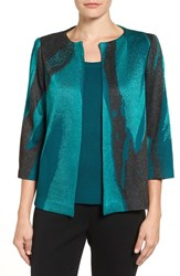 Ming Wang Women's Abstract Print Knit Jacket