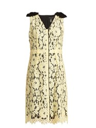 Marc Jacobs Sleeveless Guipure Lace And Silk Dress Yellow
