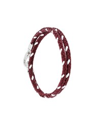 Tod's Classic Woven Bracelet Leather Red
