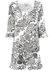 Fay Floral Print Dress White