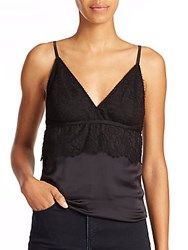 The Kooples Dentelle Lace Detail Camisole Black