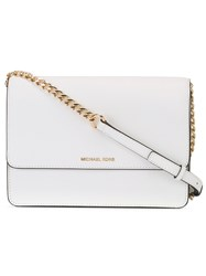 Michael Kors Collection Daniela Large Crossbody Bag White