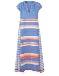 Lemlem Blue Stripe Cotton Elsi Caftan Dress