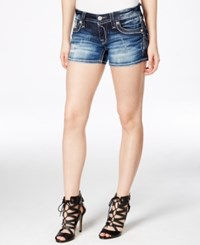 Rock Revival Dark Blue Wash Denim Shorts