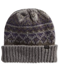 Levi's Men's Fair Isle Beanie Charcoal Black