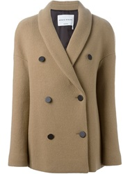 Sonia Rykiel Double Breasted Coat Nude And Neutrals