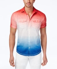 Inc International Concepts Men's Ombre Popsicle Shirt Only At Macy's Chili Pepper