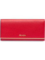 Prada Leather Wallet Red