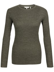 Fat Face Sofia Crew Neck Jumper Forest Green