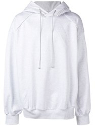 Juun.J Zip Hooded Sweatshirt Grey