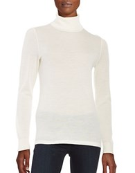 Lord And Taylor Merino Wool Turtleneck Sweater Ivory