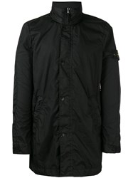 Stone Island Logo Patch Zip Jacket Black