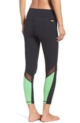 Alala Women's Heroine Performance Tights Black Palm Green