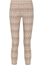 Suno Printed Stretch Cotton Blend Pants